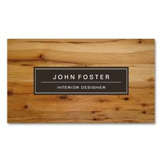 Elegant Modern Wood Grain Look Double-Sided Standard Business Cards (Pack Of 100). This great business card design is available for customization. All text style, colors, sizes can be modified to fit your needs. Just click the image to learn more!