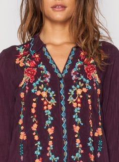 Embroidered Ivy Tunic