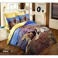 Купить постельное белье из бамбука Трое отдыхающих гепардов