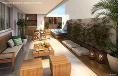 Espaço zen para inspirar ✨ e aproveitar o último dia do ano 🙏 Interior Exterior, Exterior Design, Floor Design, House Design, Muebles Home, Rooftop Terrace Design, Terrace Garden, Indoor Outdoor Living, Outdoor Decor