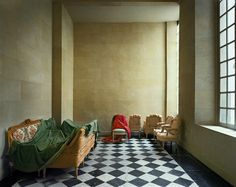 The entrance hall of the former apartment of Mme Adélaïde de France, fourth daughter of King Louis XV, taken in 1985,