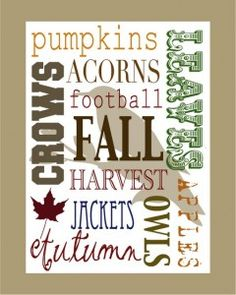 Cute free printables for the fall