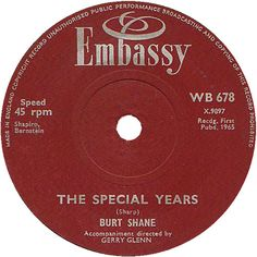 The Special Years - Burt Shane (WB678) Jan '65