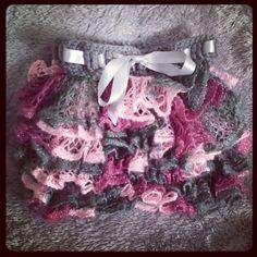 Adorable Handmade Crocheted Little Girl or Baby Ruffle Skirt