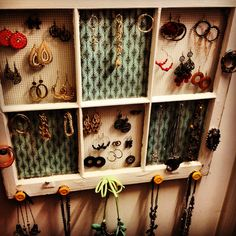 Window frame jewelry holder