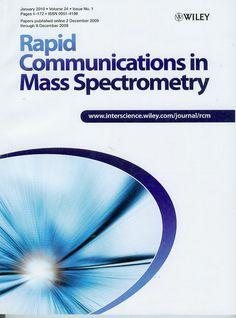 Публикации в журналах, наукометрической базы Scopus  Rapid Communications in Mass Spectrometry #Rapid #Communications  #Mass #Spectrometry #Journals #публикация, #журнал, #публикациявжурнале #globalpublication #publication #статья