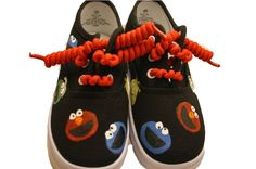 Boys or Girls Handpainted Seasame Street Character Tennies