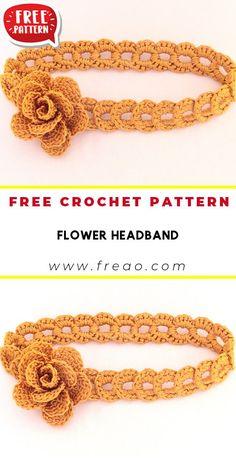 Crochet Girls, Crochet Baby Clothes, Crochet Baby Hats, Crochet For Kids, Crochet Lovey, Crochet Headband Free, Crochet Flower Headbands, Free Crochet, Easy Crochet Patterns