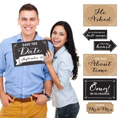 Engagement Announcement - 10 Piece Photo Props Kit | BigDotOfHappiness.com #Engagement