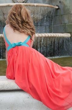 Stylish Ladies Dress With Back Bow