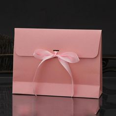1Pc Beauty Gift Box Envelope Case Candy Packaging Box With Bowknot Ribbon Kraft Paper Box Christmas Gift Wedding Accessories K3-in Gift Bags & Wrapping Supplies from Home & Garden on Aliexpress.com | Alibaba Group