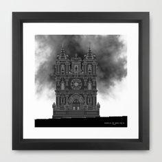HexArchi - Portugal, Alcobaça, Mosteiro de Santa Maria . Igreja Framed Art Print