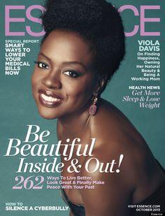 Viola Davis graces October 2013 Essence cover. Beautiful...