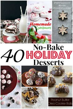 40 No-Bake Holiday Desserts