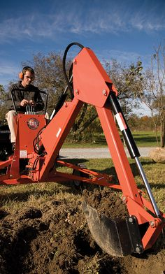 Factory direct sale on DR Towable Backhoe (self-contained excavator). 10 HP ft-lbs gross torque*) Briggs and Stratton engine, digs over deep, tow behind atv, utv, tractor or truck. Hydraulic System, Atv Attachments, Stump Removal, Trench, Tractors, Landscaping, Trucks, Yard Landscaping, Truck