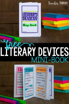 Teaching literary devices Links to resources 4th Grade Ela, 5th Grade Reading, Sixth Grade, Teaching Language Arts, Teaching English, Language Lessons, Reading Activities, Teaching Reading, Reading Resources