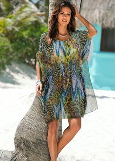 Saída de praia kaftan verde vivo estampado encomendar agora na loja on-line bonprix.com.br  R$ 89,90 a partir de Saída de praia muito feminina! Túnica com ...