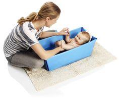 Stokke Flexi Bath - Blue and Stokke Flexi Bath Newborn Support