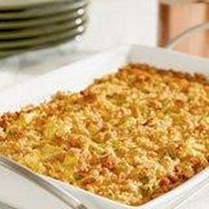 Southern Yellow Squash Casserole Recipe..Great for freezing from your garden harvest! Make like recipe says accept for crackers..Add the crackers just before baking!