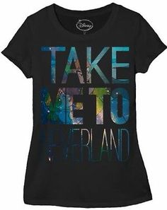 DISNEY PETER PAN TAKE ME TO NEVERLAND ADULT WOMENS T-SHIRT TEE JUNIORS S M L XL