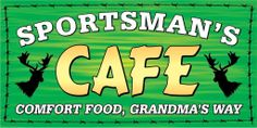Sportsman's Café takes pride in what we serve, from our Chuck Wagon soup and salad bar to our specialty burgers and entrees! Our appetizers, steaks and seafood are all cooked to order.