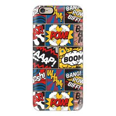 Modern Comic Book Superhero Pattern Colour Color - iPhone 7 Case,... ($40) ❤ liked on Polyvore featuring accessories, tech accessories, phone cases, cases, phones, iphone, iphone case, comic book, cartoon iphone case and slim iphone case
