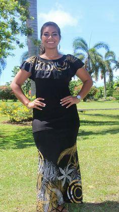 Cook island mumu dress plus