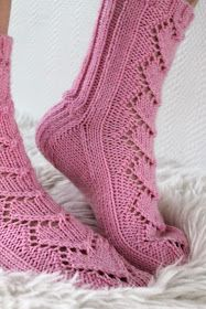 Knitted sock pattern - Maariat by Niina Laitinen - Ravelry. Knitting Videos, Loom Knitting, Knitting Socks, Knitting Patterns, Lace Socks, Crochet Socks, Knitted Slippers, Knit Crochet, Knitting