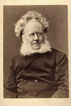 Henrik Ibsen - Norwegian playwright, theatre director, poet. Portrait taken in the late 1800s.