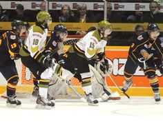 Barrie Colts tie up series with North Bay Battalion.  The Barrie Colts tied up their playoff series with North Bay Thursday night at the Barrie Molson Centre. The Colts 7-4 win over the Battalion ties the series at 2-2.