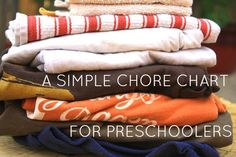 A simple chore chart for preschoolers (free PDF download).