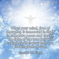 When your mind, free of thoughts, is immersed in itself in complete peace and clarity, the light of the true Self will radiate forth in your heart as…