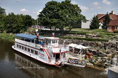 The Bavarian Belle. A diesel powered, 50 ton, stern wheeler. It is limited to about 1-1/2 miles of travel on the Cass River in Frankenmuth, Michigan. by NorkusPhoto