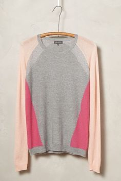Colorblocked Cashmere Pullover #anthroregistry