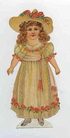 Viktorianische Anziehpuppe Lady Jane Luxus-Paperdoll 35 cm Sammleredition Reprint 19. Jhd.