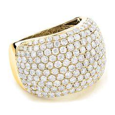 Diamantring Pavee mit 5.50 Karat Diamanten von www.juwelierhausabt.de Die Diamanten in diesem Diamantring haben die Reinheit VS2 und die Diamantfarbe G (Top Wesselton). Dieser Diamantring ist aus 585er Gelbgold gefertigt und für nur 8900.00 Euro bei Juwelier Abt in Dortmund erhältlich.