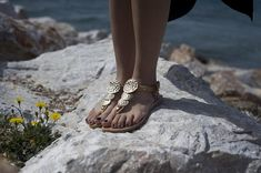 Luxury sandals, Wedding sandals, Classic sandals, Hand made leather sandals, T strap sandals, Natural gold, NY leather stories