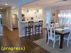 This 1950s home has been given a fantastic remodel, through the entire house. The kitchen is phenomenal!