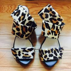 Sexy Zara Leopard Heels Pre loved, Must have, very sexy Zara heels. Has some wear on heels but it's not easily noticeable. Size 7, but fits more like 7.5. Zara Shoes Heels