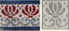Fair Isle Knitting Patterns, Fair Isle Pattern, Knitting Charts, Loom Knitting, Knitting Stitches, Knit Patterns, Hand Knitting, Stitch Patterns, Vintage Knitting