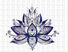 Lotus Flower Svg/Lotus Svg/Svg/Lotus Flower/ Lotus / Silhouette / Yoga / Flower svg / Cricut / Svg FIles / Cut FIles / FLower / Digital - Excited to share this item from my shop: Lotus Flower / svg / Lotus Svg / Lotus Flower / Lotu - Mandala Tattoo Design, Dotwork Tattoo Mandala, Tattoo Designs, Lotus Mandala Design, Sanskrit Tattoo, Hand Tattoos, Body Art Tattoos, New Tattoos, Star Tattoos
