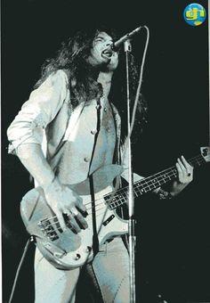 Glenn Hughes of Deep Purple live onstage with Deep Purple 1974.