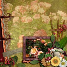 my_garden2 Digital Scrapbooking, Photo Galleries, Gallery, Fun, Painting, Roof Rack, Painting Art, Paintings, Painted Canvas
