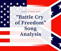 """Battle Cry of Freedom"" - Song Analysis Civil War Songs, Civil War Activities, American Imperialism, Bob Dylan Songs, Boney M, Similarities And Differences, Battle Cry, The Ellen Show, Seventh Grade"
