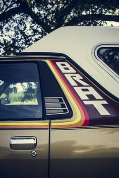 The Subaru Brat badge, a badge of honor.
