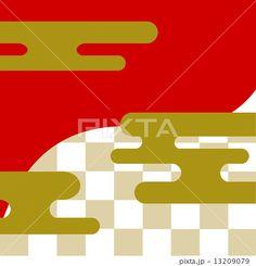 霞文様 和柄のイラスト素材 - PIXTA