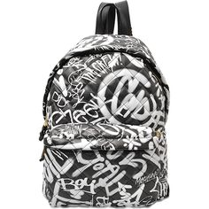 Moschino Graffiti backpack ($1,895) ❤ liked on Polyvore featuring bags, backpacks, multicoloured, moschino, multicolor bag, colorful bags, multi pocket backpack and zip bags
