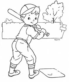 Baseball Coloring Pages Online 07896
