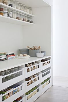 Gallery Of Bourne Road Residence By Studio Four Local Design & Interiors Glen . Gallery Of Bourne Road Residence By Studio Four Local Design And Interiors Glen Iris, Vic Image Pantry Room, Pantry Storage, Kitchen Storage, Pantry Shelving, Storage Drawers, Kitchen Drawers, Shoe Storage, Kitchen Cabinets, Kitchen Pantry Design