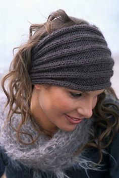 Simple Headband/ Ear-warmer Knit Pattern.  Yeah this one is real cool @Liz Bell